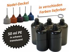 50 ml PE Nadelflaschen schwarz (transluzent)