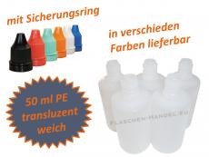 50 ml Tropf-Flasche - PE Q - Farben frei wählbar