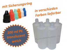 100 ml Tropf-Flasche - PE Q - Farben frei wählbar