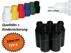 10 ml Tropf-Flasche - PP - QK TYP4 - schwarz