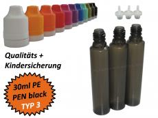 30 ml Tropf-Flasche - PE - QK TYP3 - PEN - schwarz