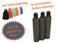 30 ml Tropf-Flasche - PE - Q - PEN - schwarz