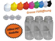 100ml Godzilla PET Kunststoffflasche V2