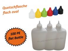 Oval Flasche HDPE 100ml