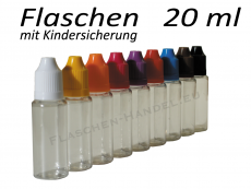 20 ml Tropf-Flasche - PET - verschiedene Farben