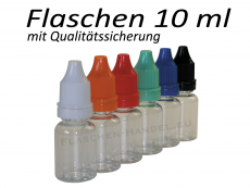 10 ml Tropf-Flasche - PET Q - Farben frei wählbar