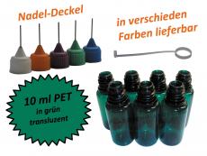10 ml PET Nadelflaschen in grün ( transluzent)
