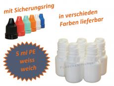 5 ml Tropf-Flasche in weiß - PE Q - Farben frei wählbar