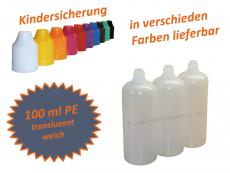 100 ml Tropf-Flasche - PE - verschiedene Farben