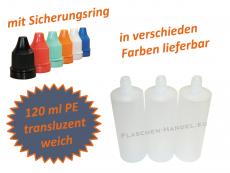 120 ml Tropf-Flasche - PE Q - Farben frei wählbar
