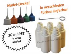 10 ml PET Nadelflaschen in weiss (lichtfest)