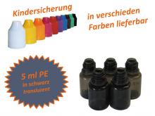 5 ml Tropf-Flasche schwarz - PE (transluzent)
