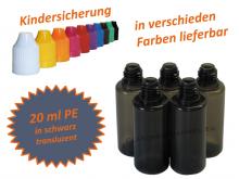20 ml Tropf-Flasche schwarz - PE (transluzent)