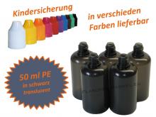 50 ml Tropf-Flasche schwarz - PE (transluzent)
