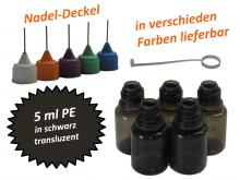 5 ml PE Nadelflaschen schwarz (transluzent)