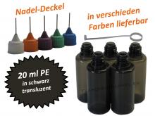 20 ml PE Nadelflaschen schwarz (transluzent)