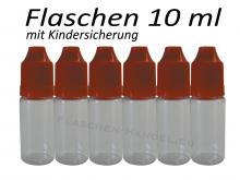 10 ml Tropf-Flasche - PET - rot