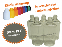 50ml Tropfflasche - PET - verschiedene Farben