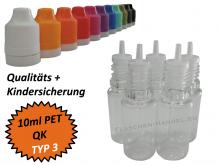 10 ml Tropf-Flasche - PET - QK TYP3