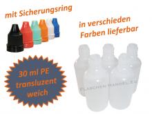 30 ml Tropf-Flasche - PE Q - Farben frei wählbar