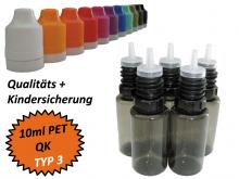 10 ml Tropf-Flasche - PET - QK TYP3 - schwarz
