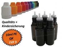 10 ml Tropf-Flasche - PE - QK TYP3 - schwarz