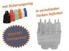 10 ml Tropf-Flasche - PET Q - slim- Farben frei wählbar