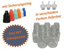 5ml Tropf-Flasche - PET Q - Farben frei wählbar