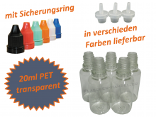 20ml Tropf-Flasche - PET Q - Farben frei wählbar