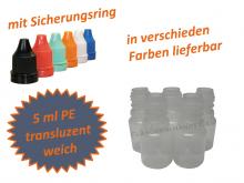 5 ml Tropf-Flasche - PE Q - Farben frei wählbar