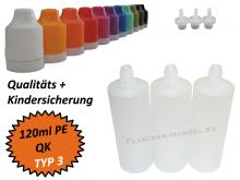 120 ml Tropf-Flasche - PE - QK TYP3