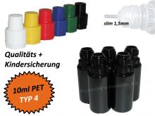 10 ml Tropf-Flasche - PET - QK TYP4 - schwarz