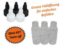 30ml Liquidflasche PET - twist off Deckel