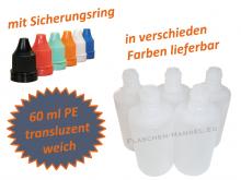 60 ml Tropf-Flasche - PE Q - Farben frei wählbar