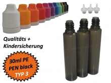 30ml Dropperbottle PE TC TYP3 Pen black