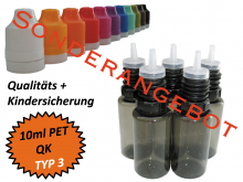 10ml Dropperbottle PET TC TYP3 black special offer packing 3000 pcs