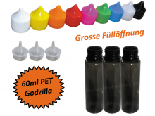 60ml Godzilla PET Plasticbottle in black