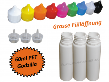 60ml Godzilla PET Plasticbottle in white