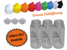 100ml Godzilla PET Plasticbottle