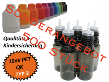 10ml Dropperbottle PET TC TYP3 black special offer packing 500 pcs