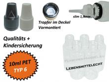 10ml Liquidflasche - PET - QK TYP6