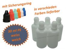 30 ml Tropf-Flasche weiss - PE Q - Farben frei wählbar