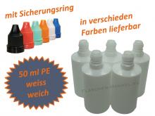50 ml Tropf-Flasche weiss - PE Q - Farben frei wählbar
