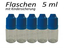 5 ml Tropfflasche - PET - blau