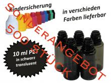 10 ml Tropf-Flasche PET in schwarz ( transluzent ) Sale VPE 500 Stück