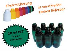 10 ml Tropf-Flasche PET in grün ( transluzent )