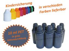10 ml Tropf-Flasche PET in grau ( lichtundurchlässig )