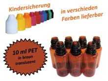 10 ml Tropf-Flasche PET in braun ( transluzent )
