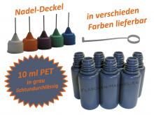 10 ml PET Nadelflaschen in grau ( lichtundurchlässig )