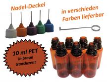 10 ml PET Nadelflaschen in braun ( transluzent )